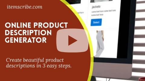 product description video